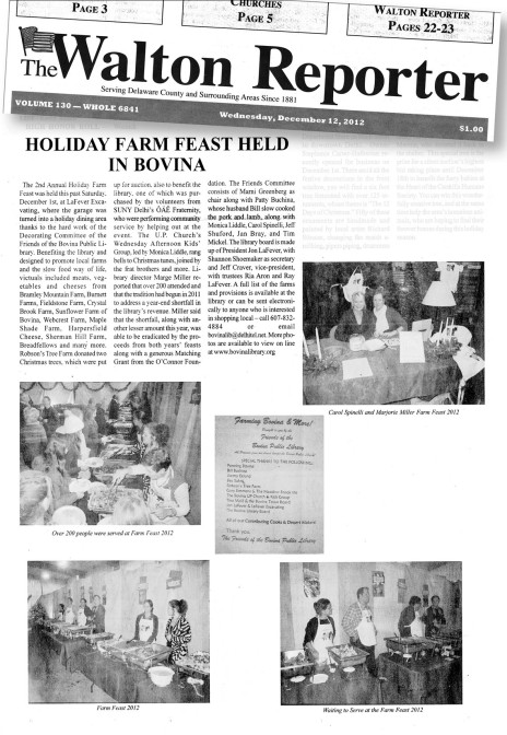 Library Dinner article Image