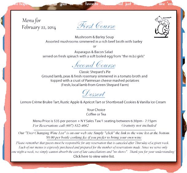 MBI menu